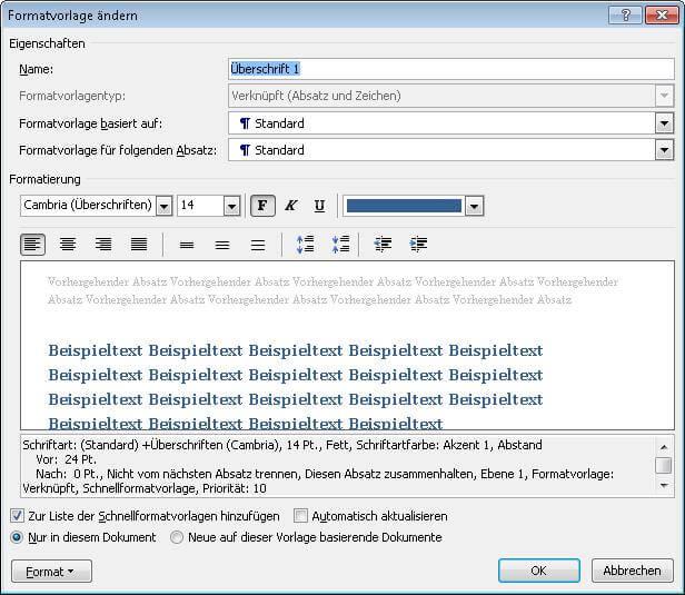 Automatische-Erstellung-von-Inhalts-Index-Abbildungs-und-Tabellenverzeichnissen-Formatvorlage-aendern