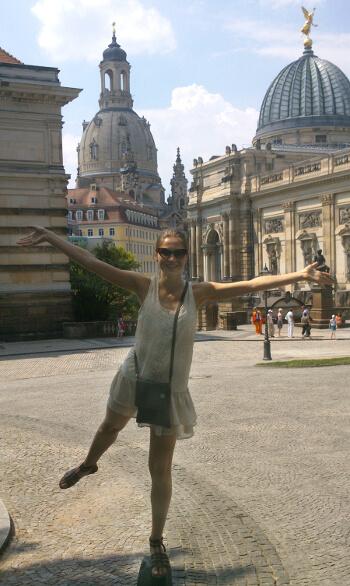Yana in ihrer zweiten Heimat: Dresden.