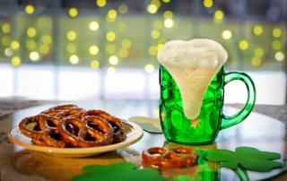 irischer Tisch für Saint Patrick