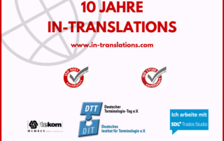 Firmenjubiläum bei IN-TRANSLATIONS
